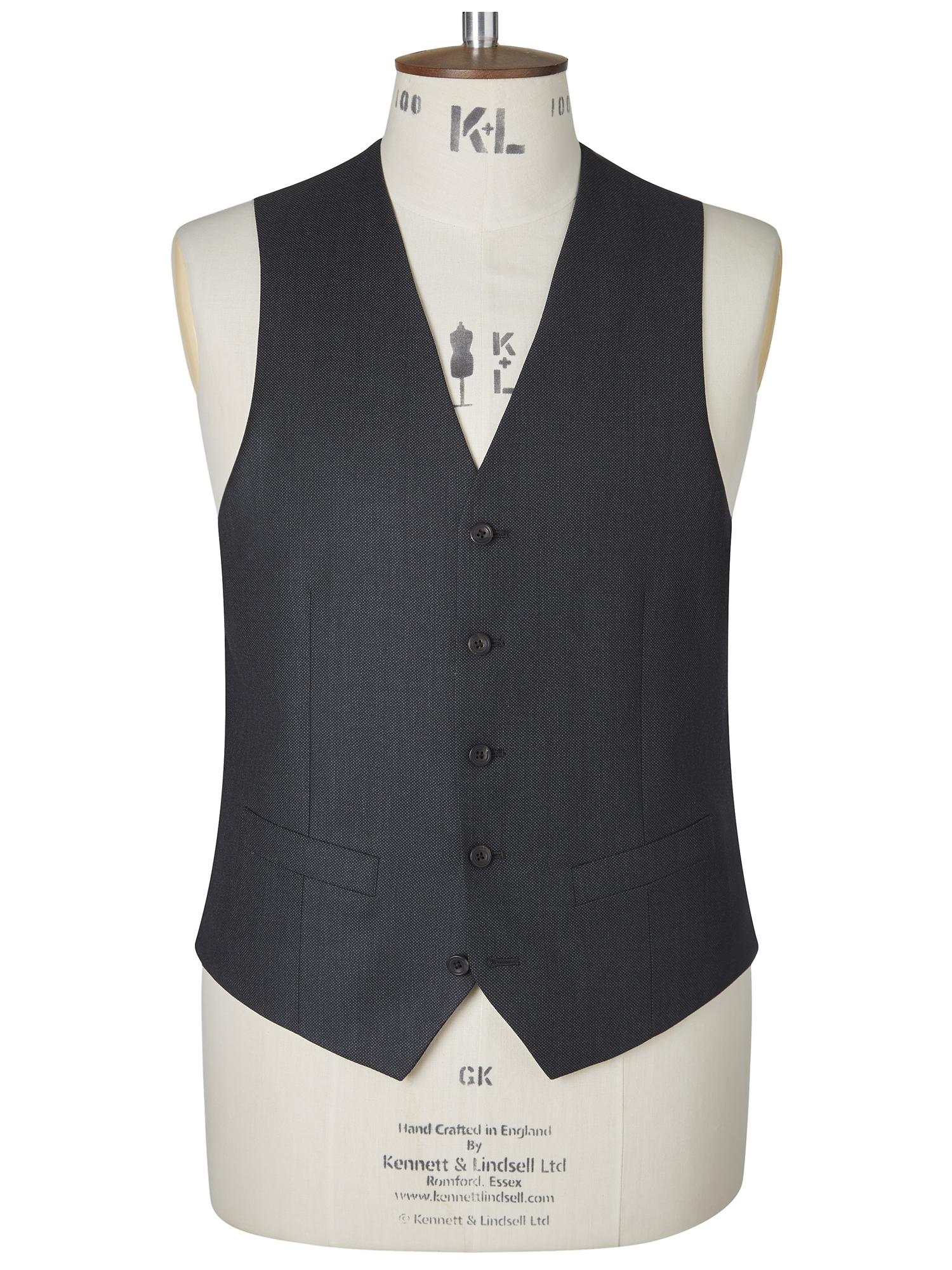 CHESTER BARRIE Classic Birdseye Berkeley Suit Waistcoat