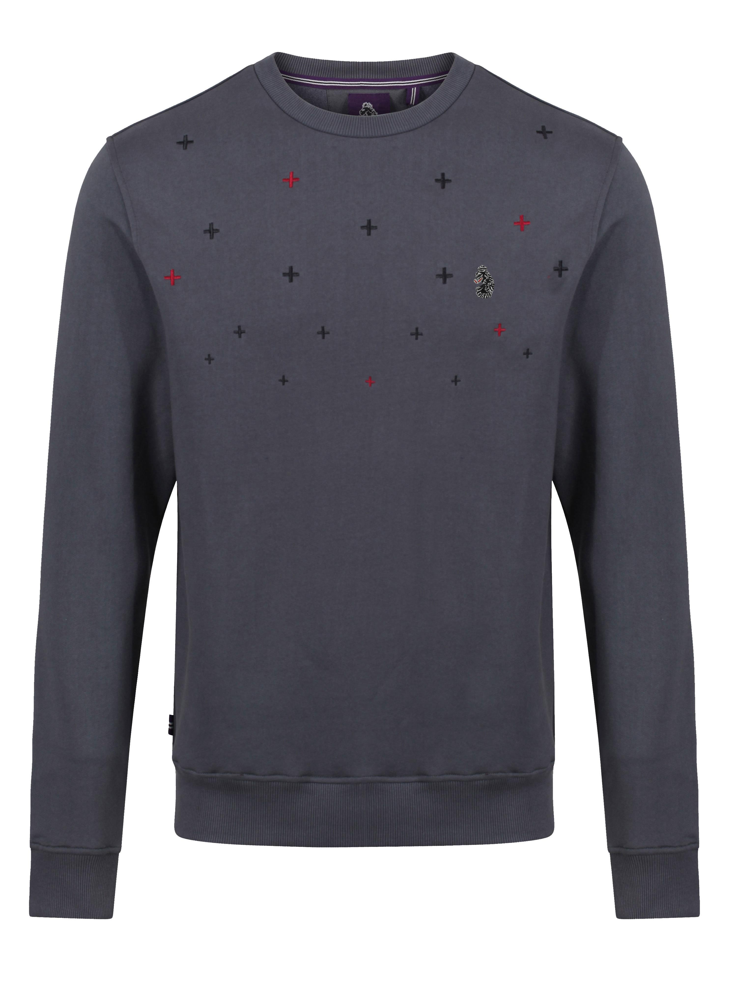 LUKE 1977 Welders Embroidery Detail Sweatshirt