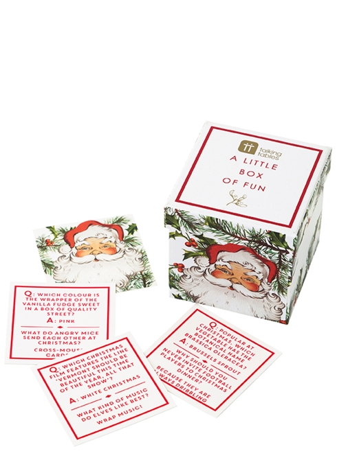 a little box of fun christmas trivia talking tables - Fun Christmas Trivia