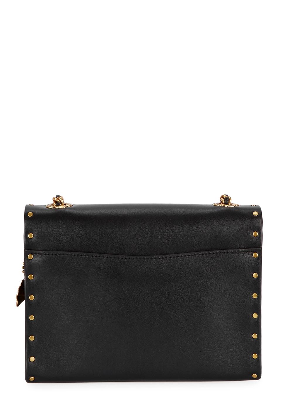 Parker 18 black leather shoulder bag - Coach