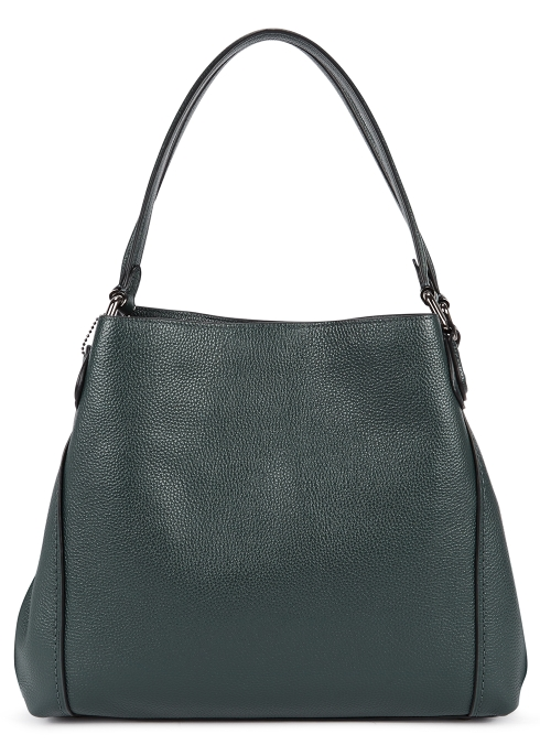 Coach Edie 31 dark green leather shoulder bag - Harvey Nichols 3bf61901a7225
