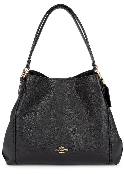 E 31 Black Leather Shoulder Bag Coach
