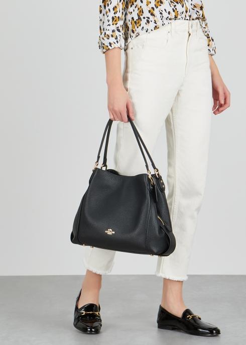 7ff51ea3677 Coach Edie 31 black leather shoulder bag - Harvey Nichols