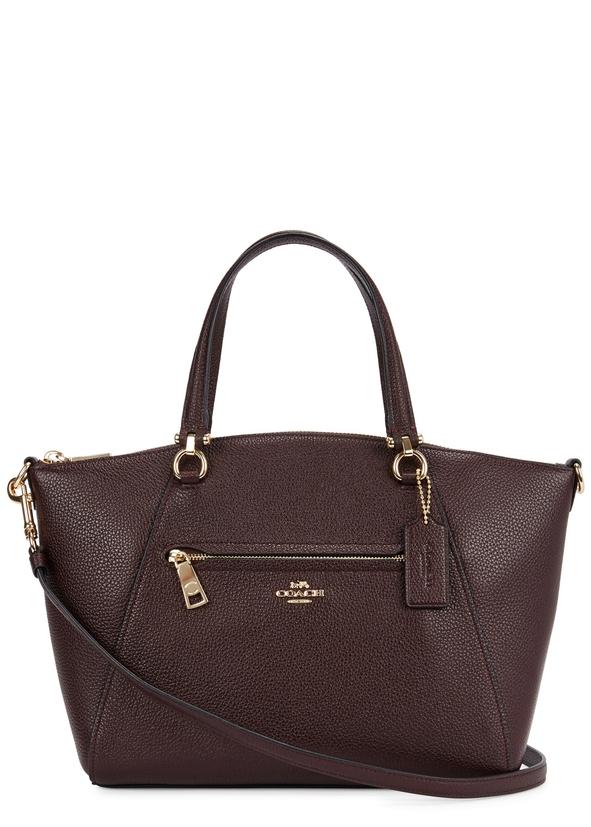 Prairie Bordeaux Leather Shoulder Bag
