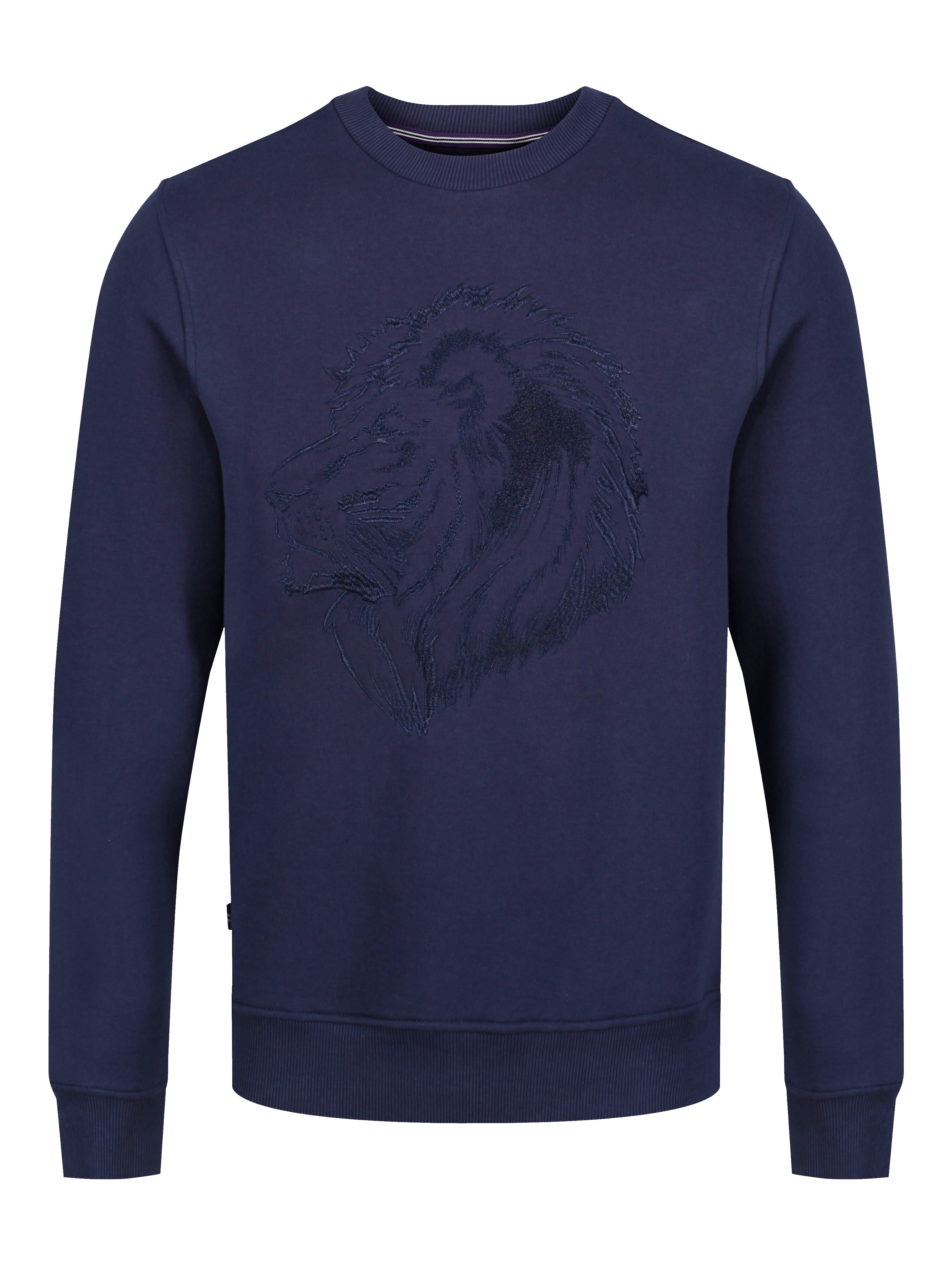 LUKE 1977 Bonds Embroidery Detailed Crew Neck Sweatshirt