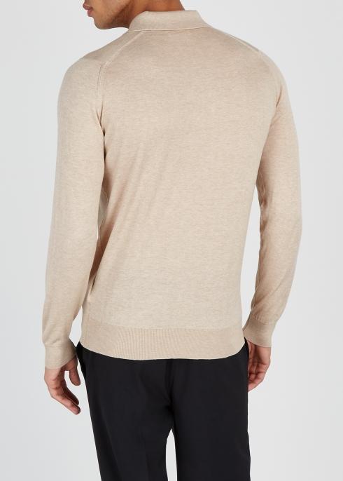 4aece2466 John Smedley Lanly cotton-blend polo shirt - Harvey Nichols