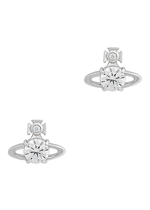 Vivienne Westwood Reina Crystal Embellished Stud Earrings