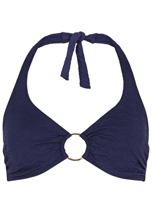 9e2f31616a Melissa Odabash Brussels navy halterneck bikini top - Harvey Nichols