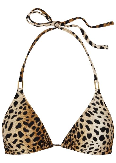 a3c394e1e2 Melissa Odabash Cancun cheetah-print bikini top - Harvey Nichols