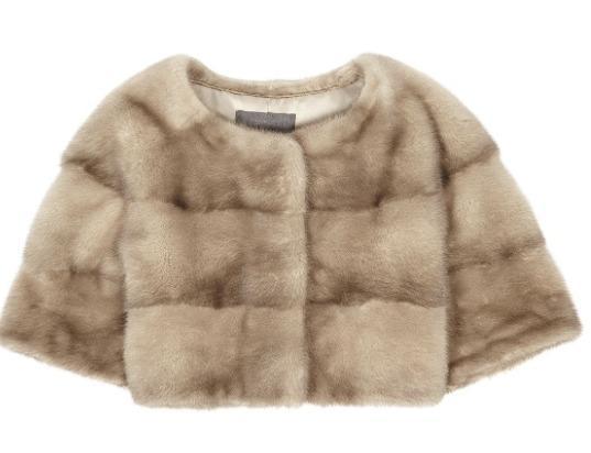 Sarah Mini Mink Fur Jacket Cammeo