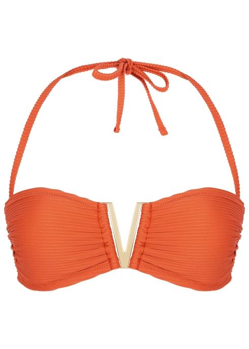 4c63dae8217a5 Heidi Klein Casablanca orange halterneck bikini top - Harvey Nichols