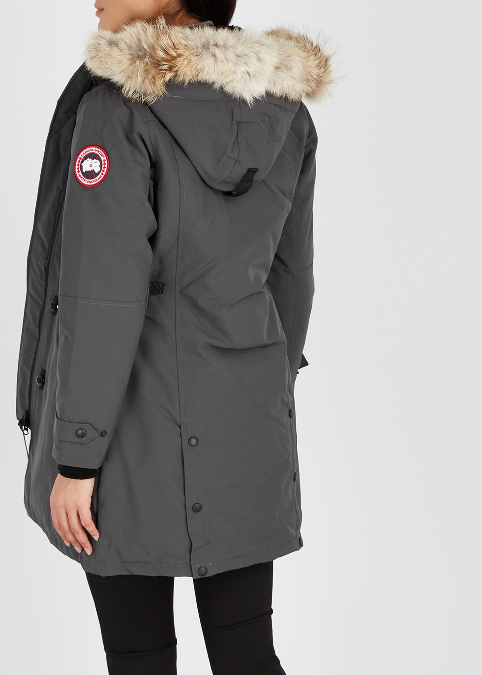 canada goose kensington fusion fit fur trimmed parka harvey nichols rh harveynichols com