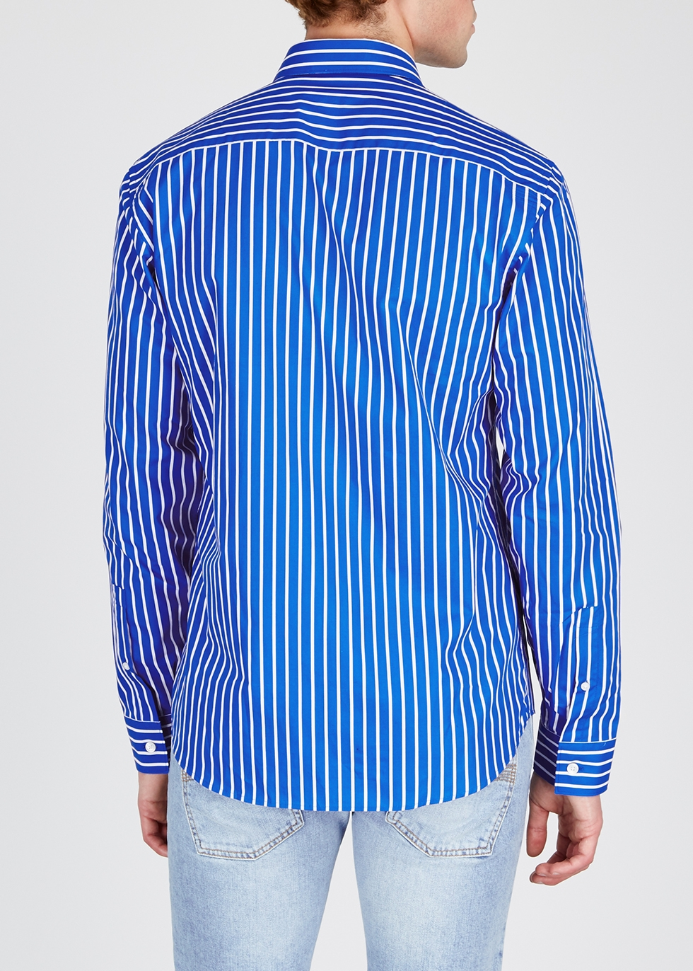 Blue striped cotton shirt - Kenzo