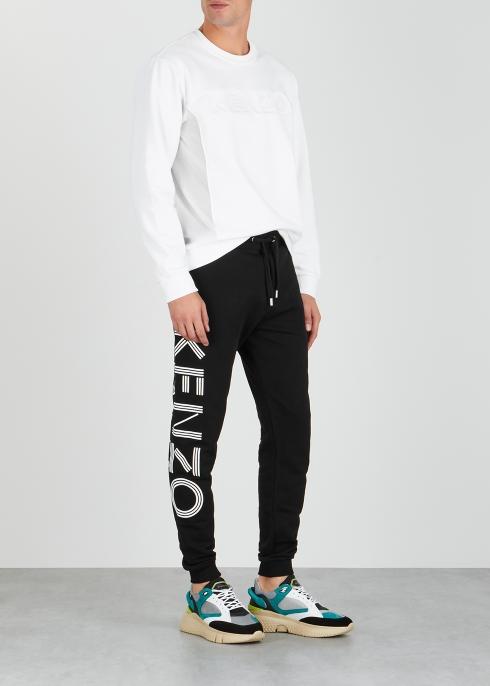 c98a5e2dd475 Kenzo Black logo-print cotton sweatpants - Harvey Nichols