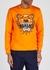 Orange tiger-embroidered cotton sweatshirt - Kenzo