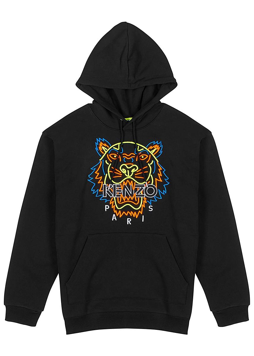 8ca4e10ae Black tiger-embroidered cotton sweatshirt ...