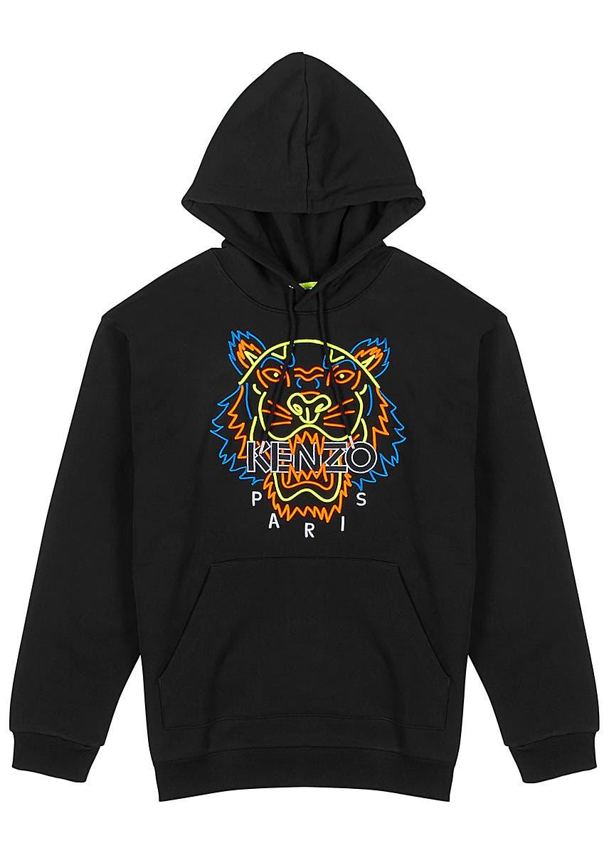 f39cbcc4f45 Black tiger-embroidered cotton sweatshirt ...
