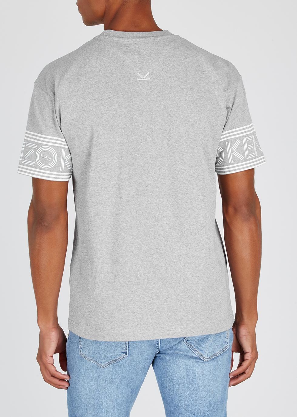 Grey logo-print cotton T-shirt - Kenzo