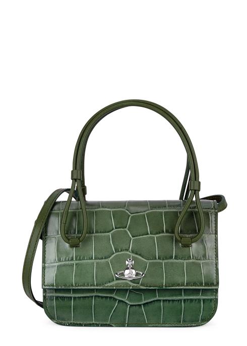 9dd246a046d3 Vivienne Westwood Lisa crocodile-effect leather top handle bag ...
