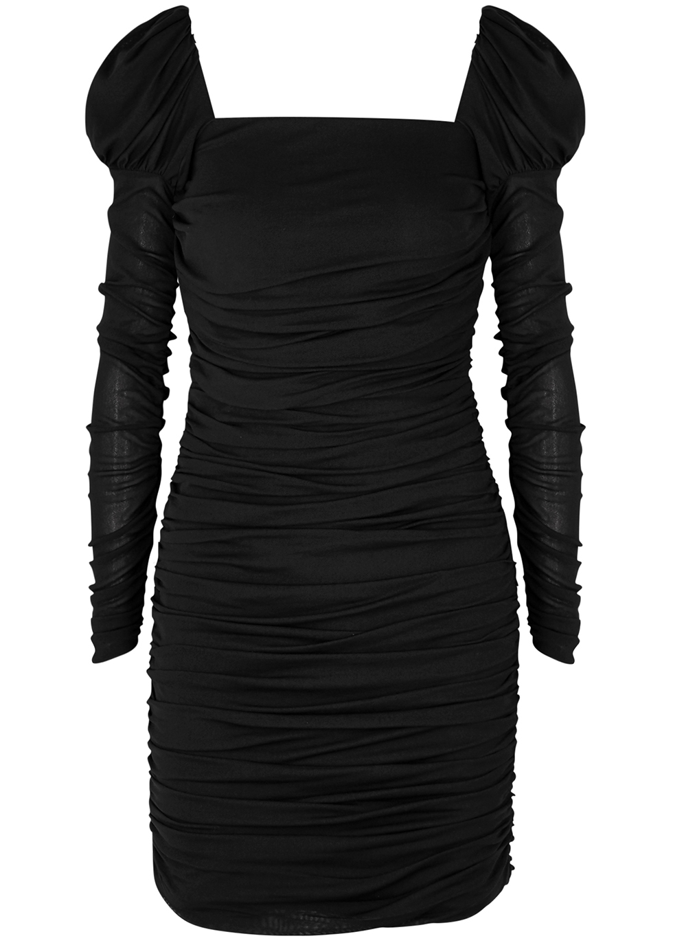 Frenchie Black Ruched Dress