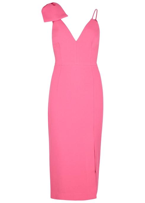 f6076019ff Rebecca Vallance Love bow-embellished cady midi dress - Harvey Nichols