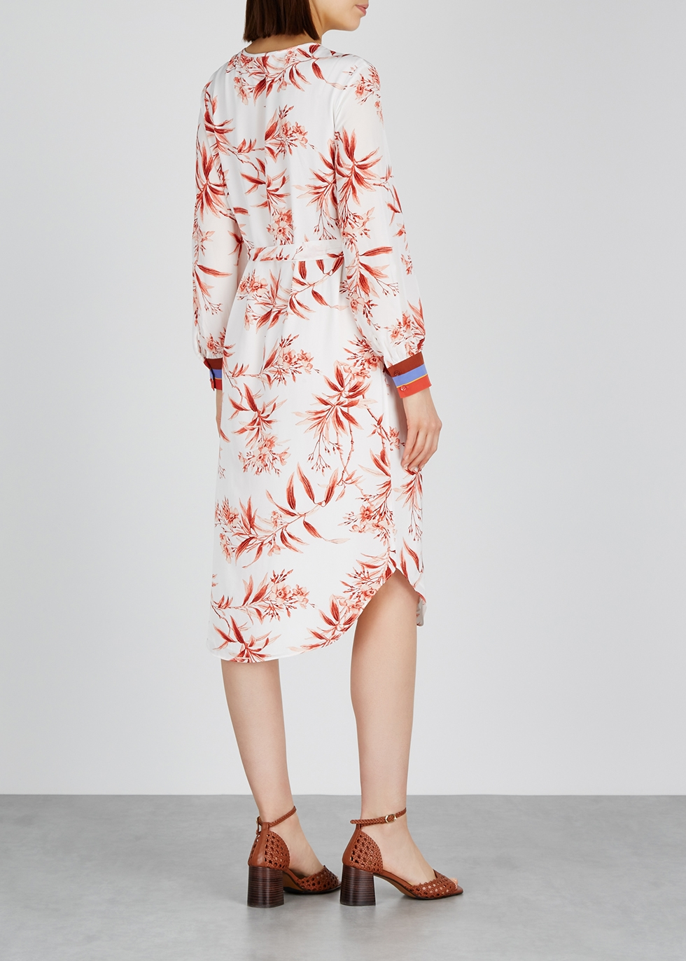 Jeanee printed crepe midi dress - Joie