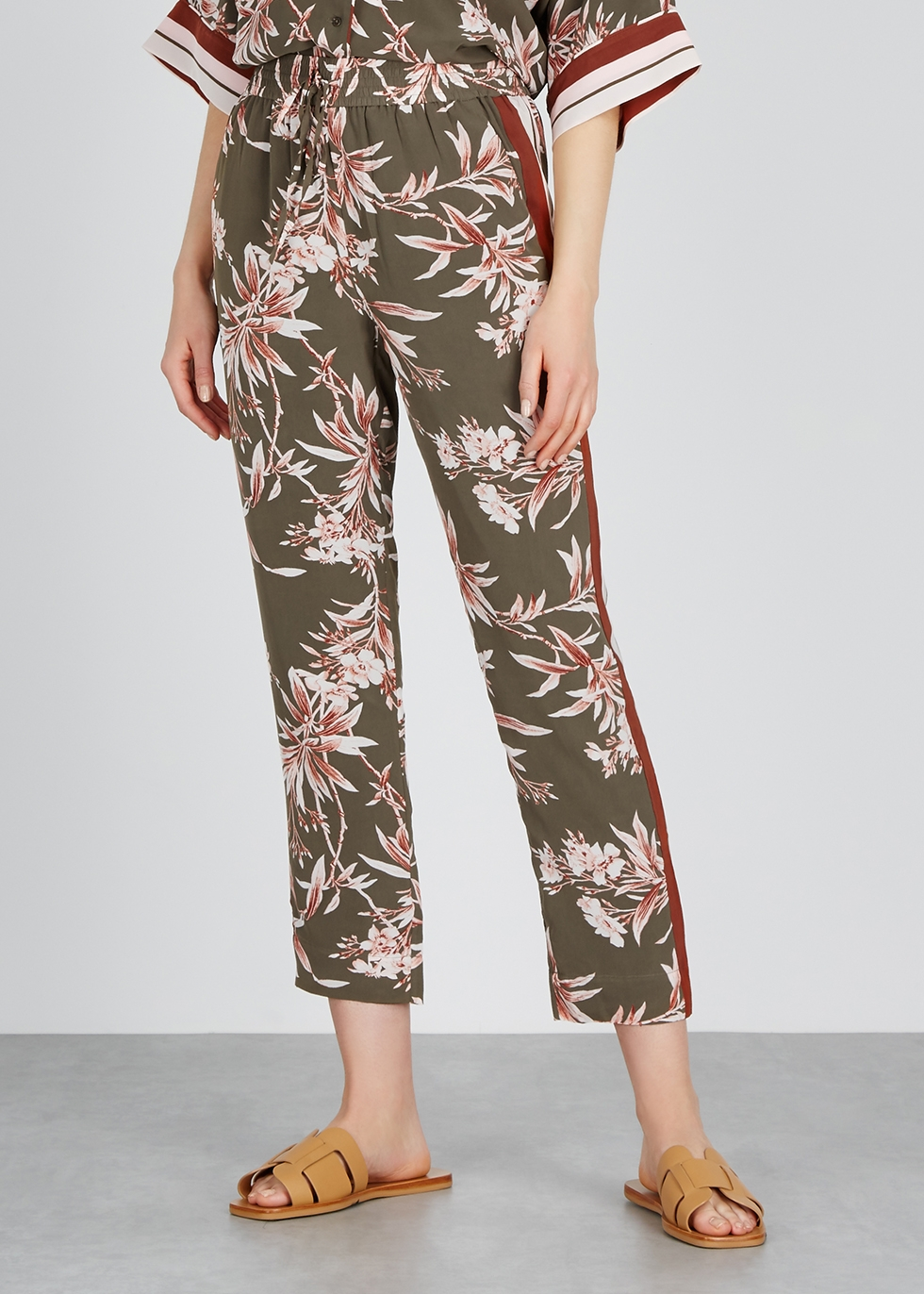 Quisy printed crepe trousers - Joie