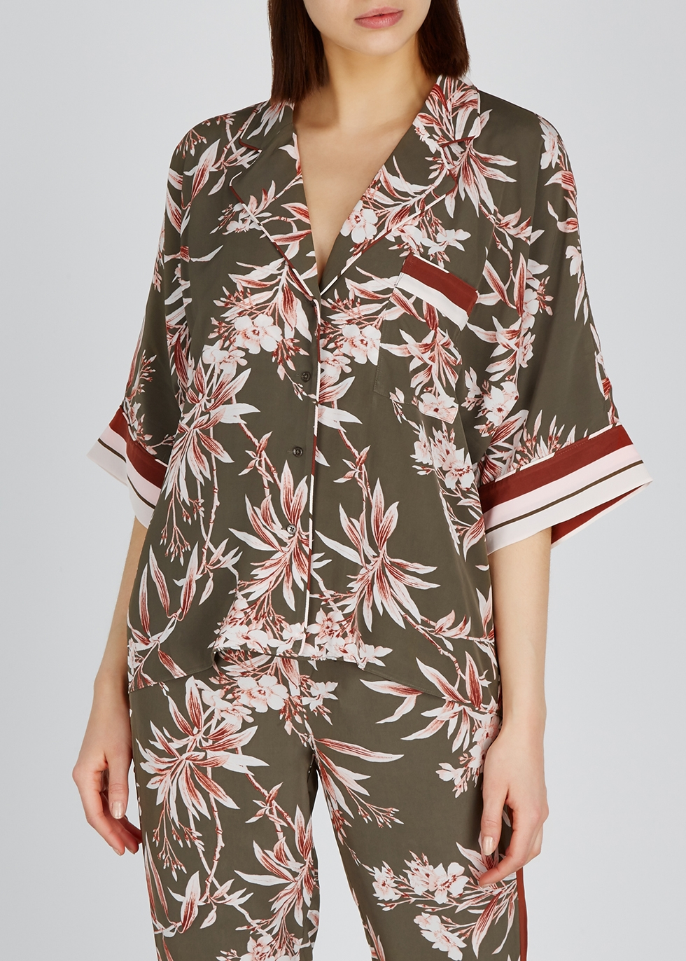 Bayley printed crepe shirt - Joie