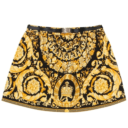 Versace Kids Gold Baroque Skirt thumbnail