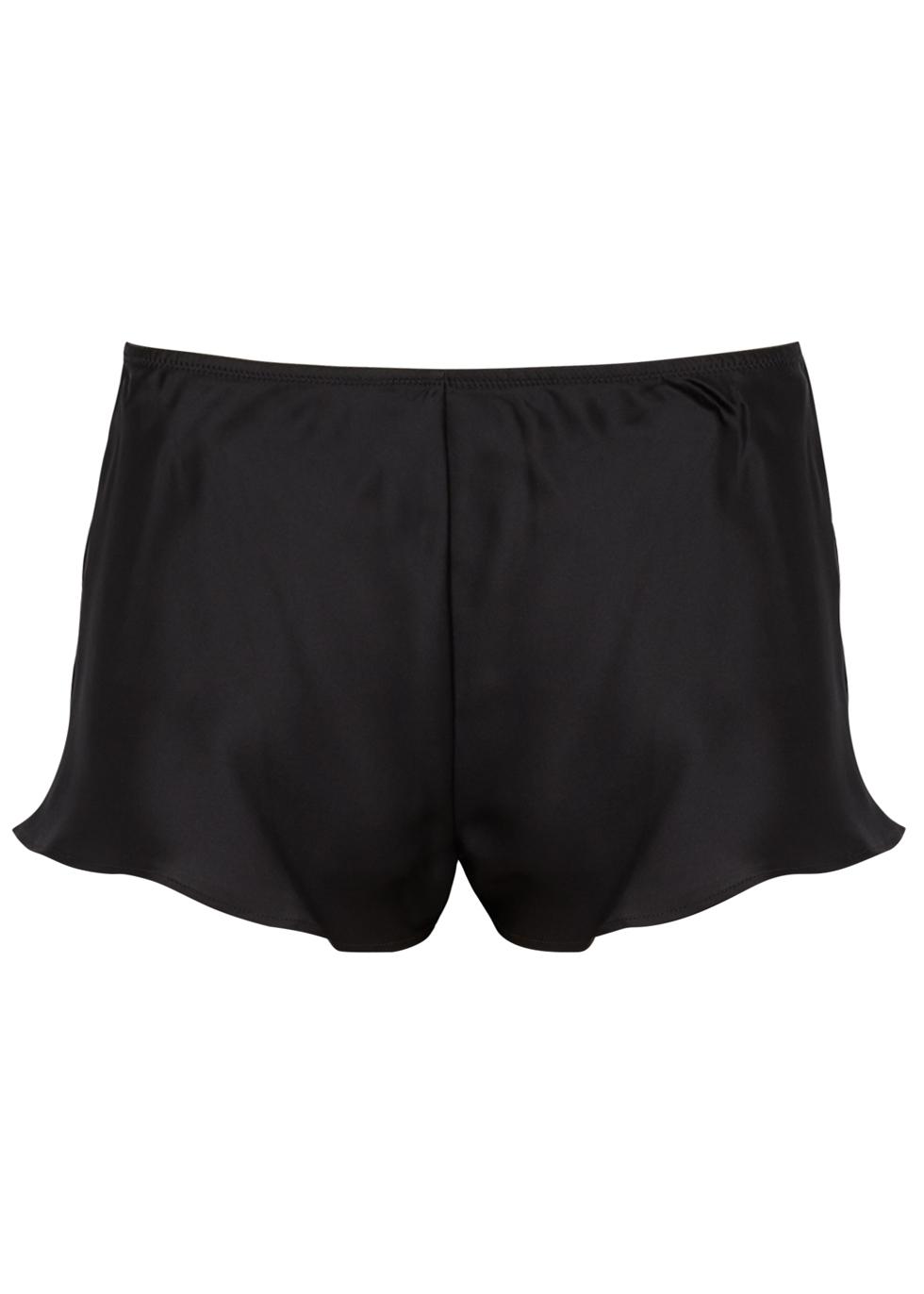 Dream Black Silk Shorts