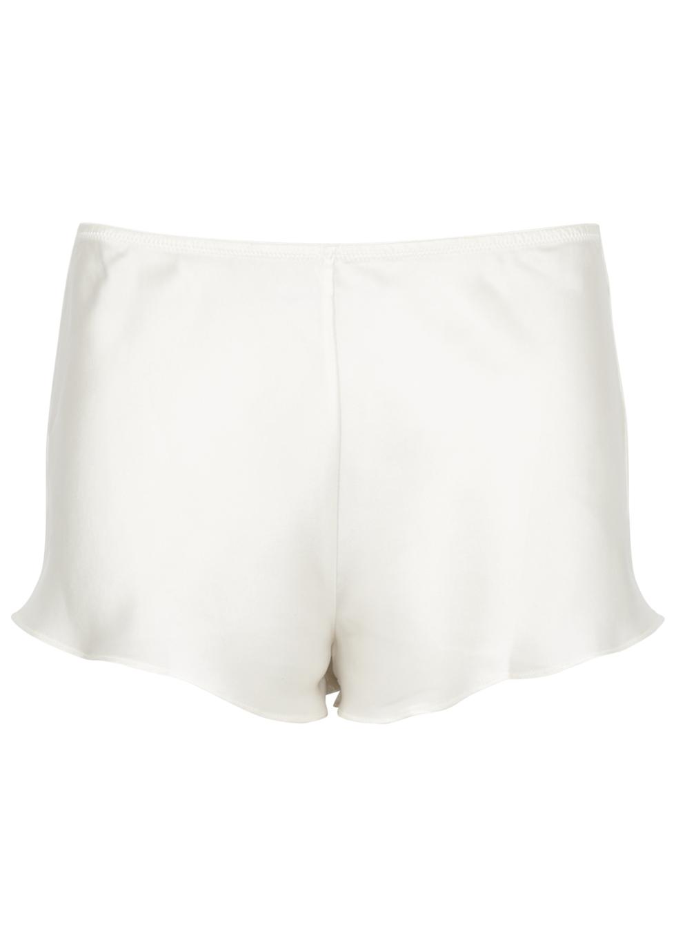 Dream Ivory Silk Shorts