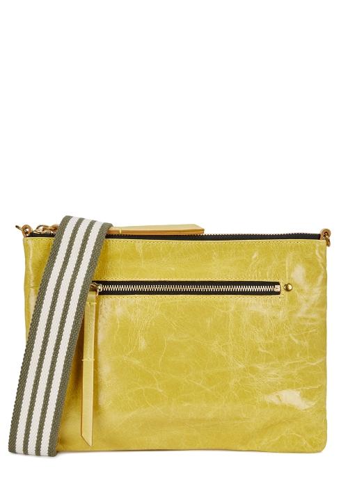 Isabel Marant Nessah chartreuse leather cross-body bag - Harvey Nichols 465aabd7b8