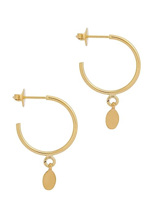 26d1b4cb4b Isabel Marant Leaves gold-tone hoop earrings - Harvey Nichols