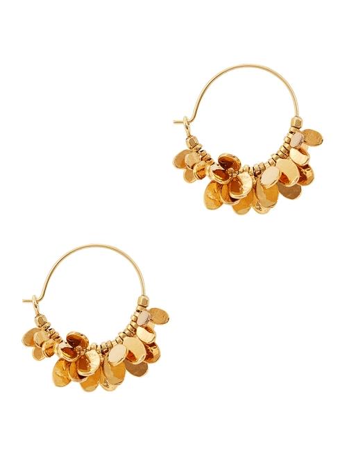 Isabel Marant Leaves gold-tone hoop earrings - Harvey Nichols 3b74bb1ac5
