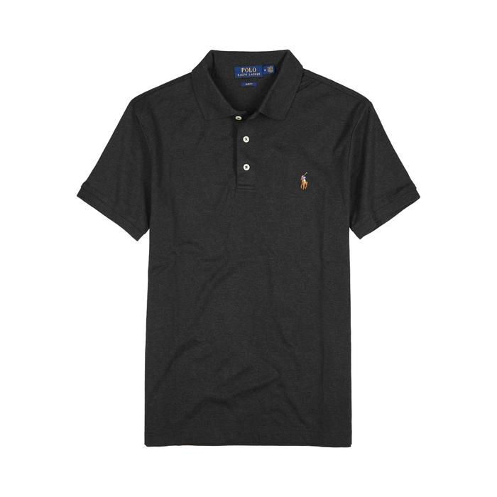 Polo Ralph Lauren Charcoal Slim Pima Cotton Polo Shirt