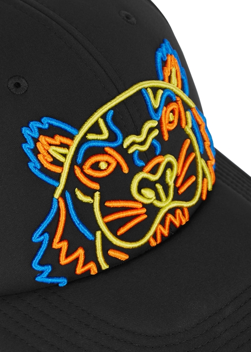dbe47931d6e Kenzo Black tiger-embroidered neoprene cap - Harvey Nichols