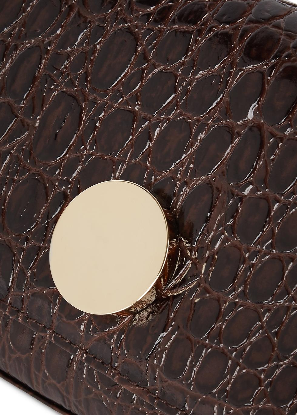 Baguette mini crocodile-effect clutch - LITTLE LIFFNER