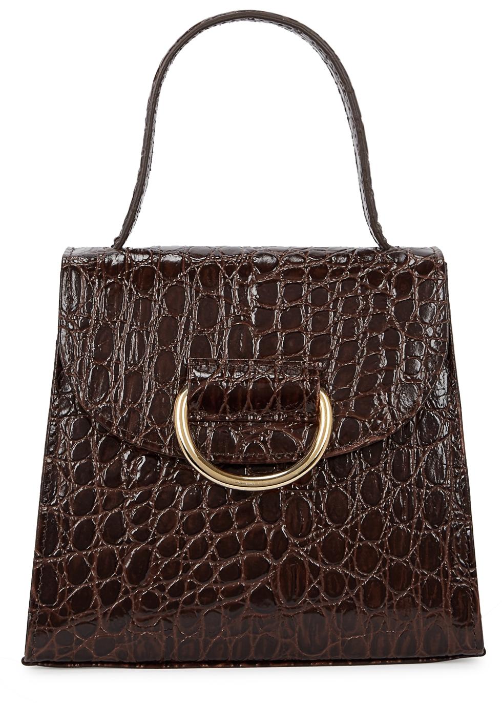 LITTLE LIFFNER Little Lady Leather Cross-Body Bag in Brown