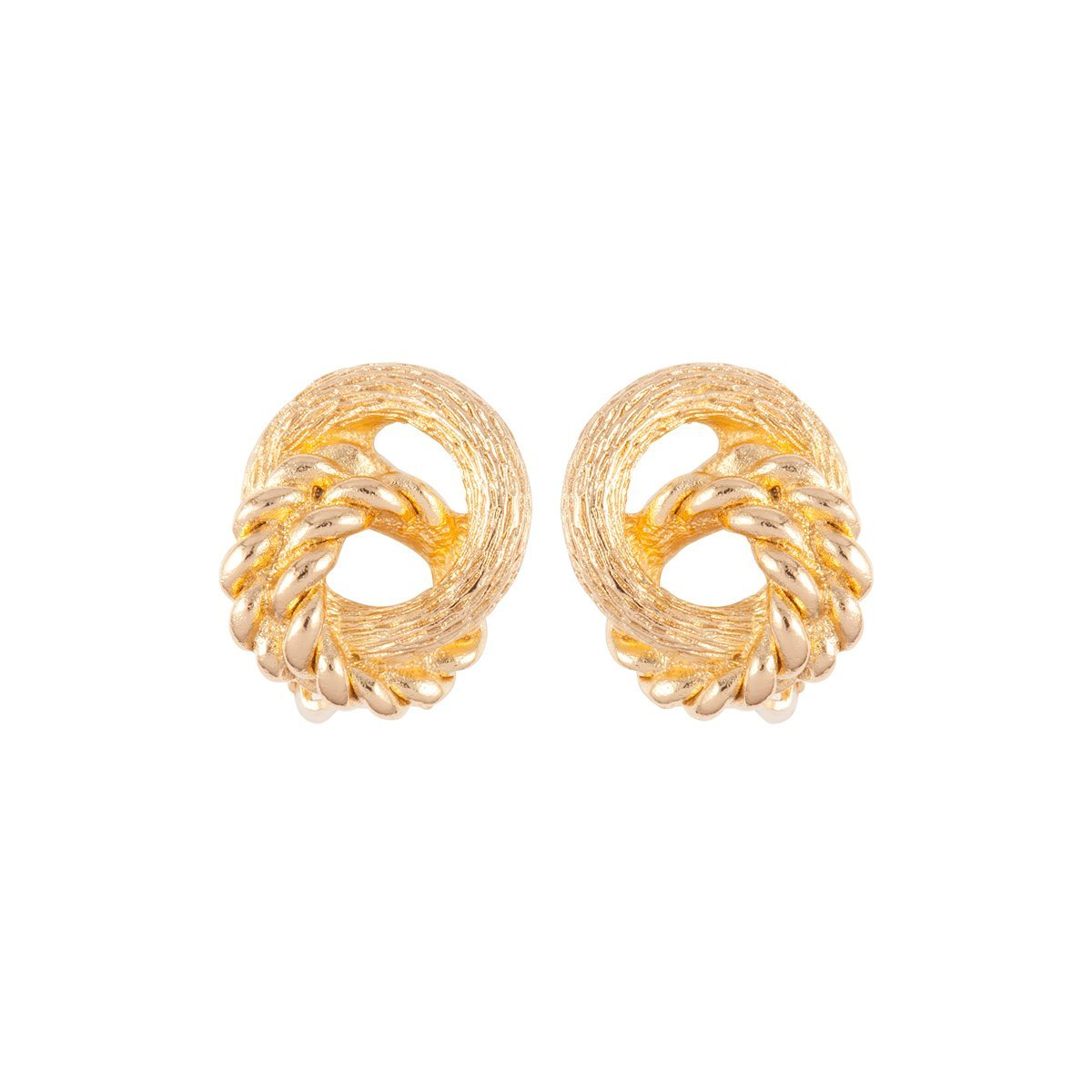 1980S Vintage Christian Dior Knot Clip-On Earrings