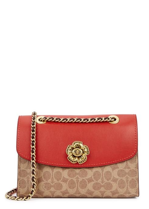 Coach Parker monogrammed shoulder bag - Harvey Nichols 881fb649d2f2a