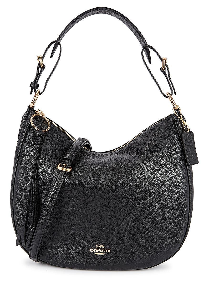 06601c1ba2b42 Sutton black leather hobo bag Sutton black leather hobo bag. Coach