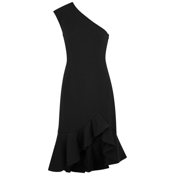 Keepsake MIRRORS BLACK ONE-SHOULDER DRESS
