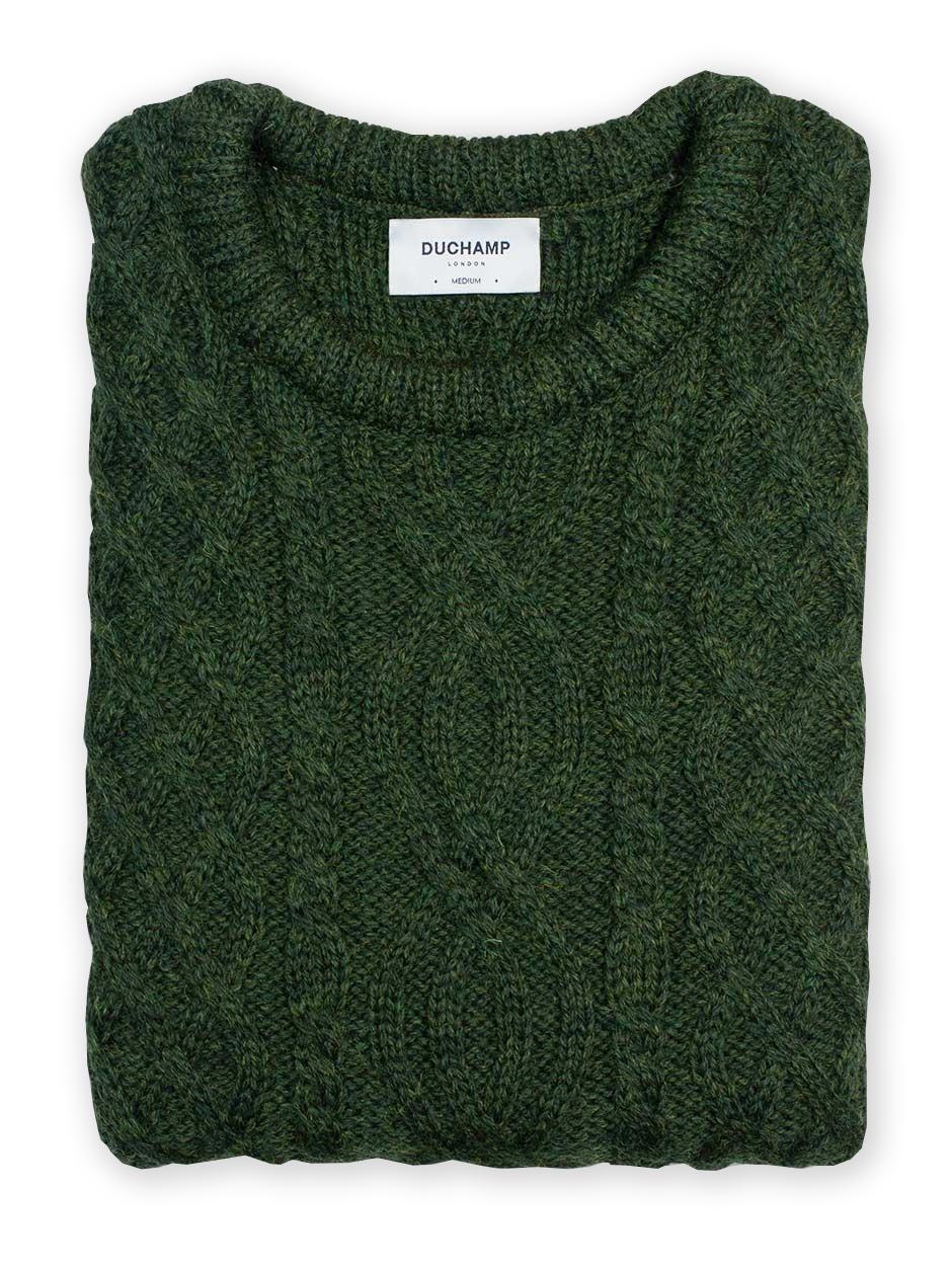 DUCHAMP LONDON Aran Wool Jumper