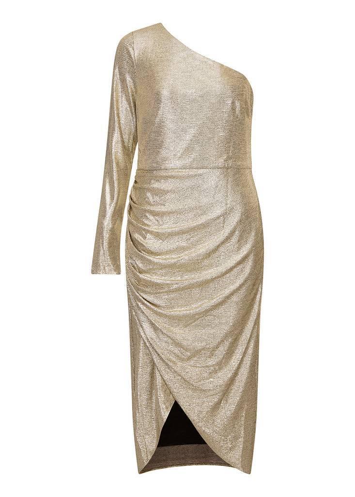 AIDAN Foiled Jersey Dress
