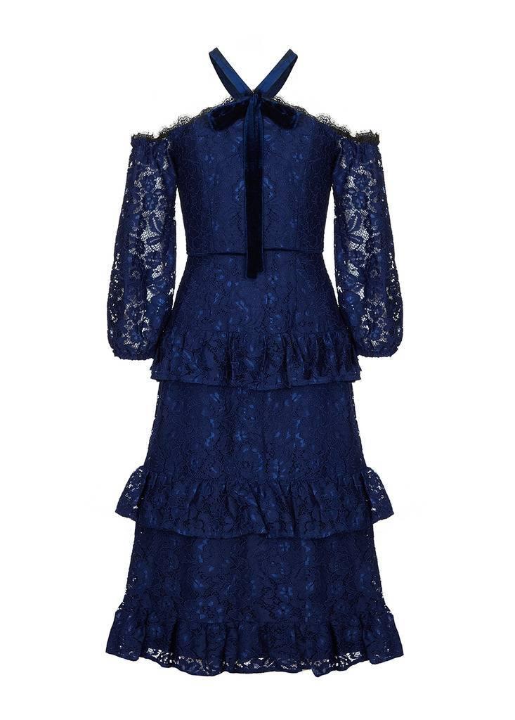 AIDAN Cold Shoulder Lace Dress