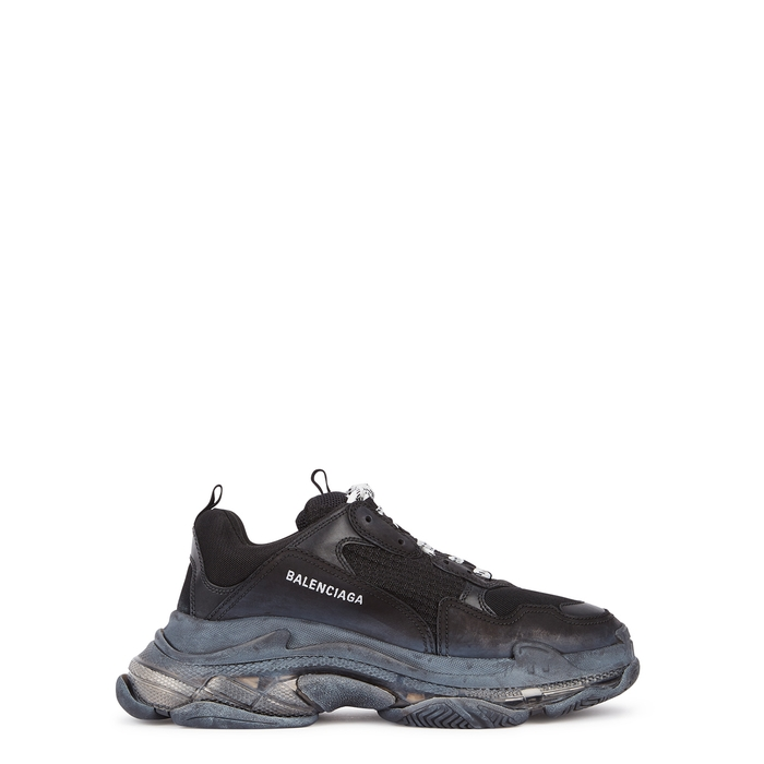Balenciaga Triple S Mesh, Leather And Nubuck Trainers