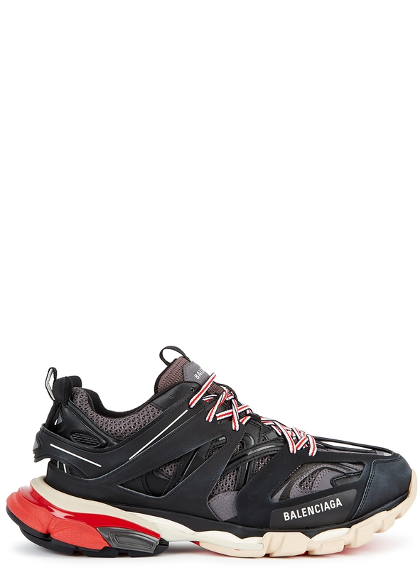 Track leather and mesh trainers ... 0f764cab1f8