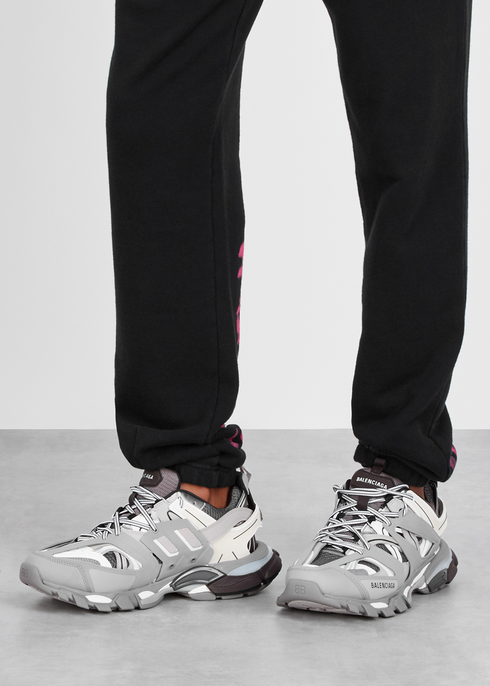 Track leather and mesh trainers - Balenciaga