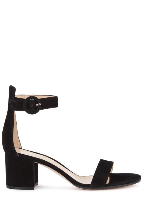 b552558f9ed2 Gianvito Rossi Versilia 60 black suede sandals - Harvey Nichols