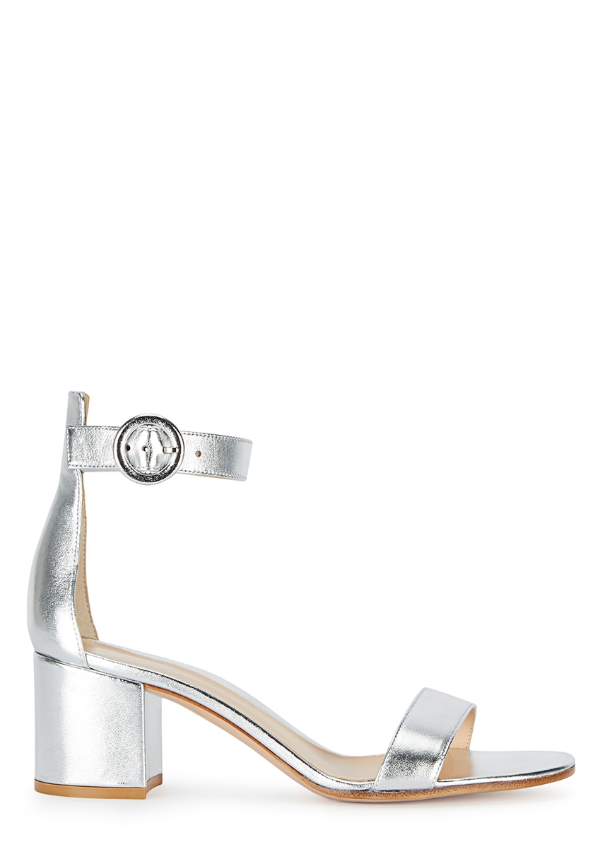 be06c6f2da1 Gianvito Rossi. Versilla 50 silver leather sandals